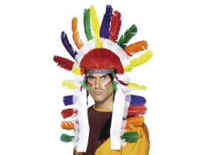 indiánská čelenka náčelník levně