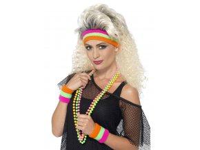 barevná potítka 80 léta karneval móda