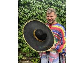 mexické sombrero velké černé