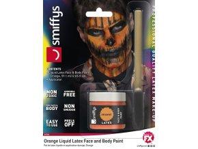 tekutý latex oranžový barva