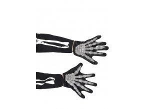 Dětské svítící rukavice Kostlivec halloween