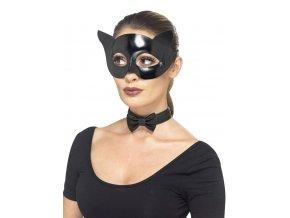 Sexy kočičí škraboška maska