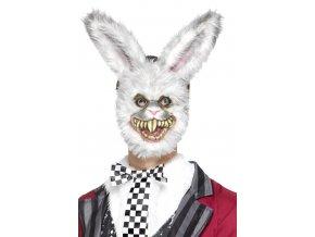 strašidelná Maska zombie Králík halloween