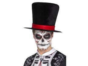 Vysoký klobouk Den mrtvých sugar skull halloween