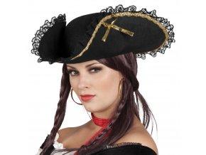 pirátský klobouk pro pirátku