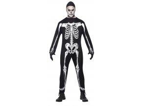 Pánský kostým kostlivec halloween masky