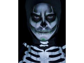 Make up kostlivec lebka svítící ve tmě