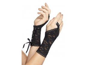 Šněrovací rukavice bez prstů