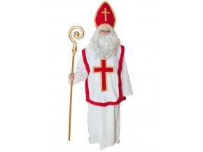 bílý mikulášský plášť ornát