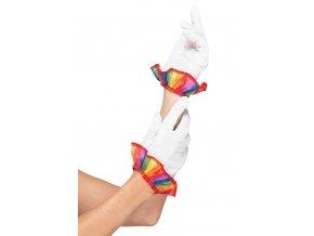 bílé rukavičky pro klauna