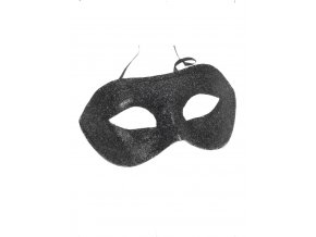 Plesová škraboška černá třpytivá