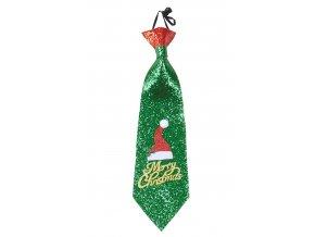 zelena kravata vanoce