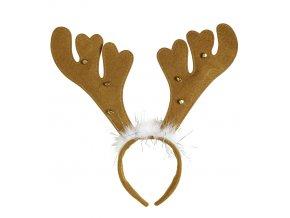 Čelenka vánoční sob hnědé parohy