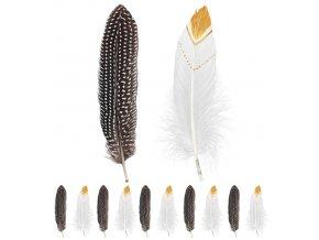 Indiánské peří zlaté 12ks