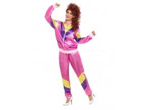 Dámský kostým růžový Fitness souprava