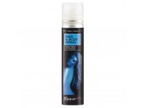 Modrý sprej na vlasy a tělo