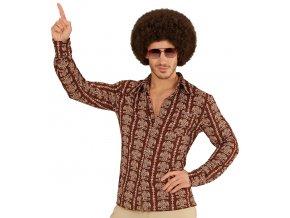 Pánská košile hnědá Disco Fever