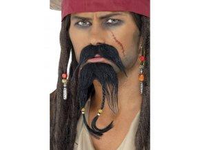 Pirátský knír s bradkou (Jack Sparrow)
