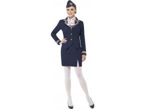 Kostým letušky modrá uniforma