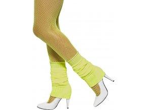 Disco návleky na kotníky žluté