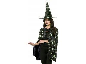 čarodějnický plášť svítící ve tmě