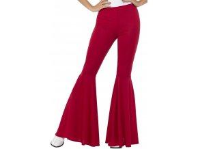 Dámské kalhoty zvonáče červené 70. léta