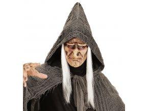 latexová maska čarodějnice