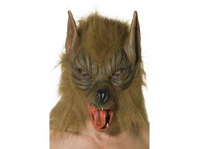 Gumová maska vlka