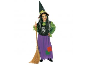 dívčí šaty čarodějnice