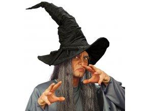 klobouk čaroděj černý