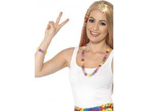 hippies sada náhrdelník a náramek