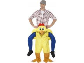 kostým jezdec na kuřeti
