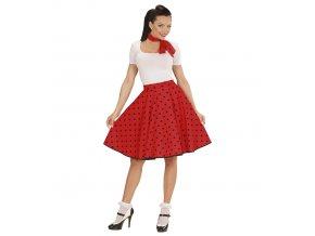 červená puntíkatá sukně