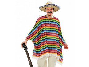 mexicke pončo a sombrero