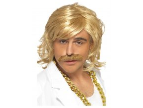 pánská blond paruka s knírem