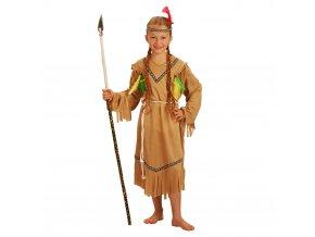 dívčí kostým indiánky