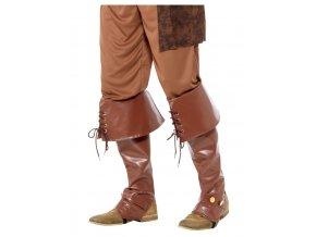 Hnědé boty pro piráta (návleky)