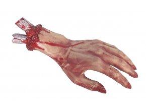 halloween vyzdoba Dekorace Krvavá ruka