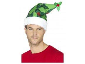 Vánoční čepice cesmína