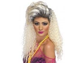 Dámská sexy blond paruka 80. léta