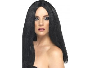 Paruka černá (rovné vlasy)