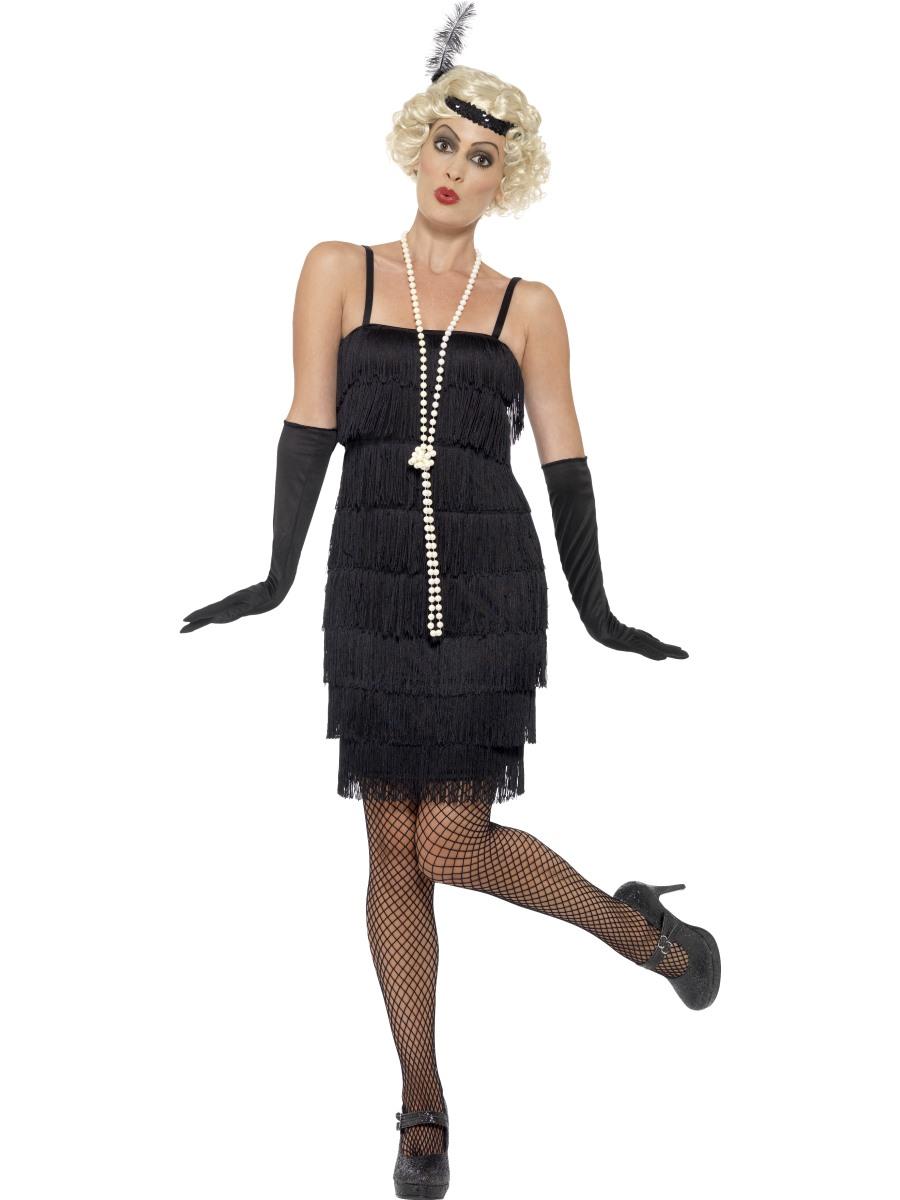 Charleston šaty s třásněmi 30. léta Velikost: S (36-38)