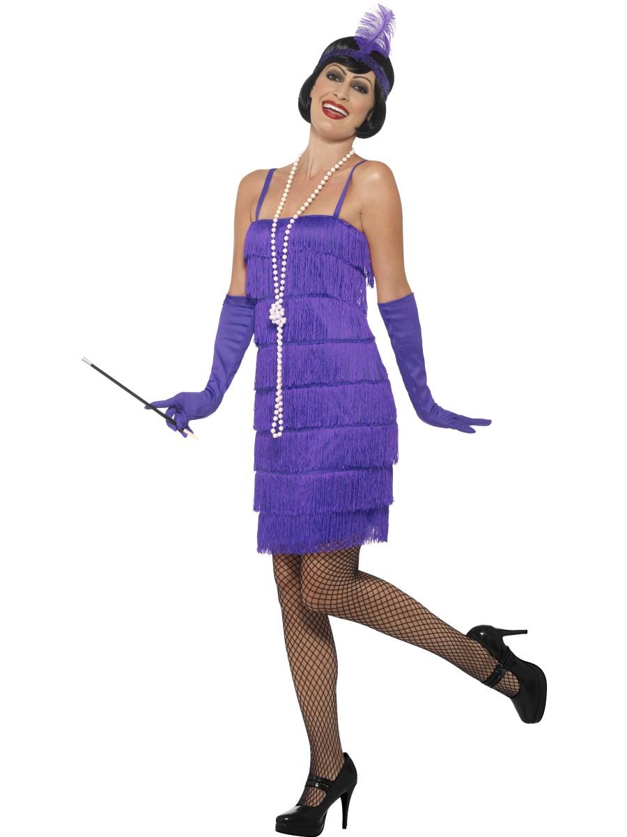 Charleston šaty 30. léta fialové Velikost: S (36-38)