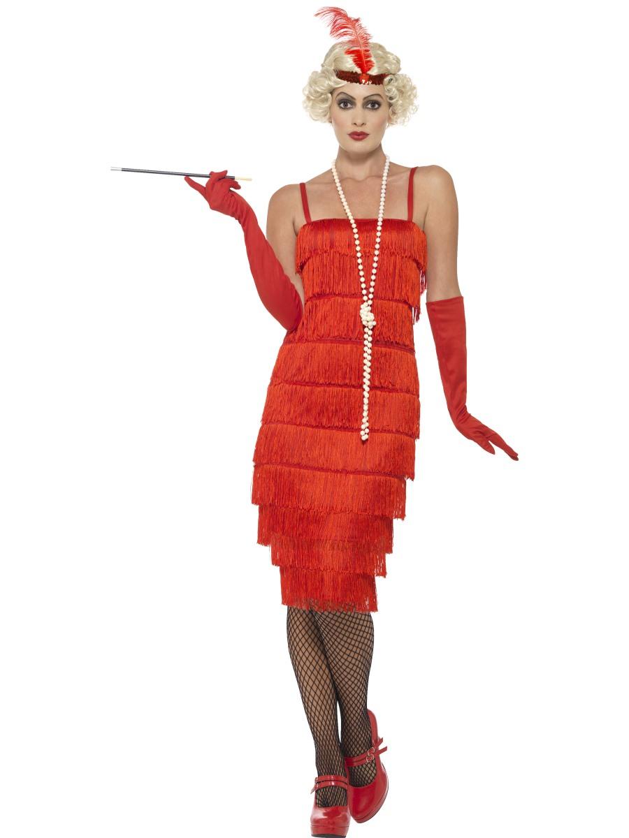 Červené šaty kostým 30. léta Velikost: S (36-38)