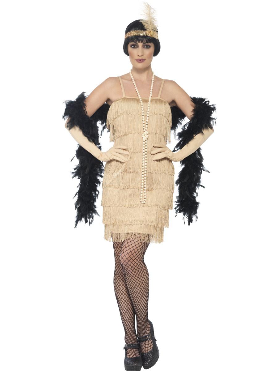 Charleston šaty 30. léta zlaté Velikost: S (36-38)