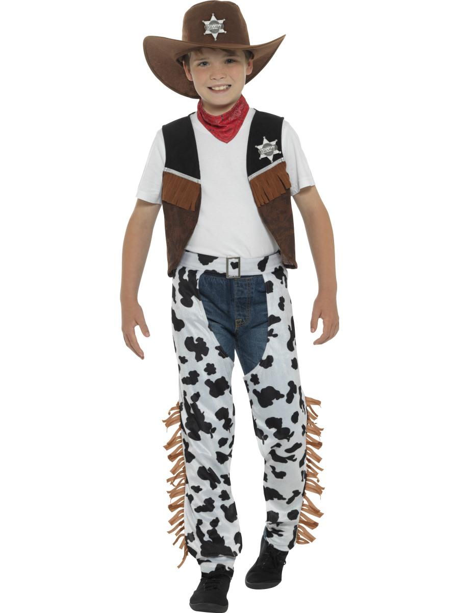 Dětský westernový kostým Kovboj Velikosti: M (7-9 let)
