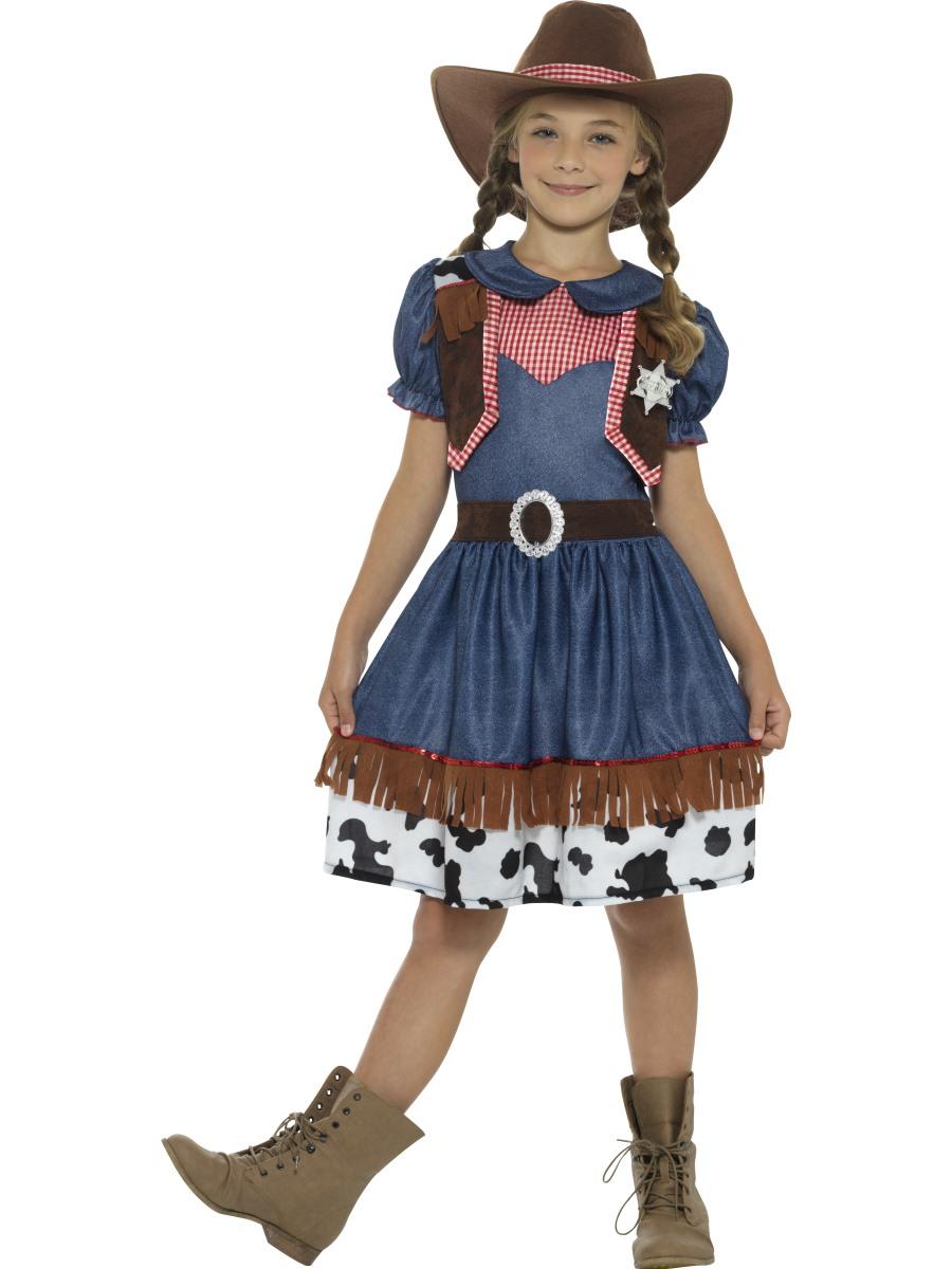 Dětský westernový kostým Kovbojka Velikosti: M (7-9 let)