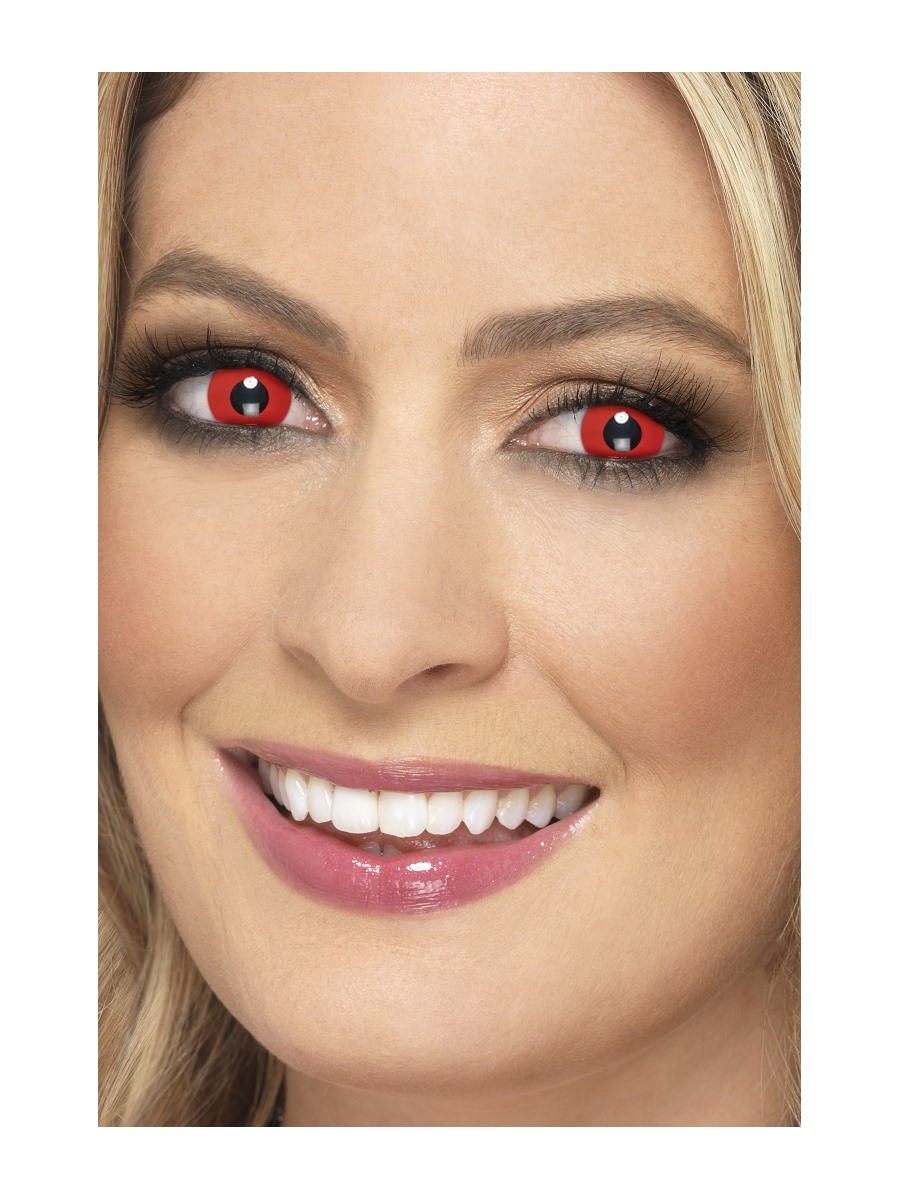 Barevné kontaktní červené čočky
