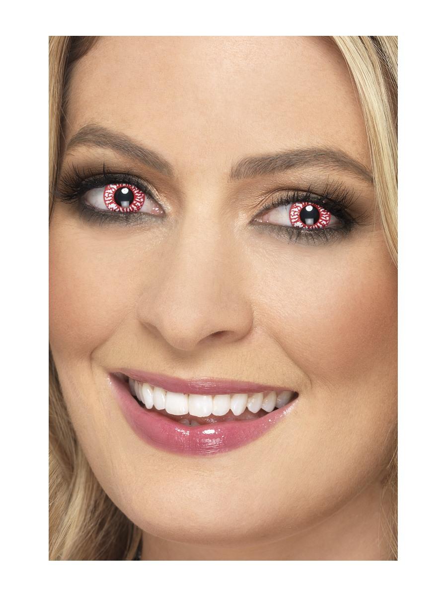 Barevné kontaktní čočky červené žilky