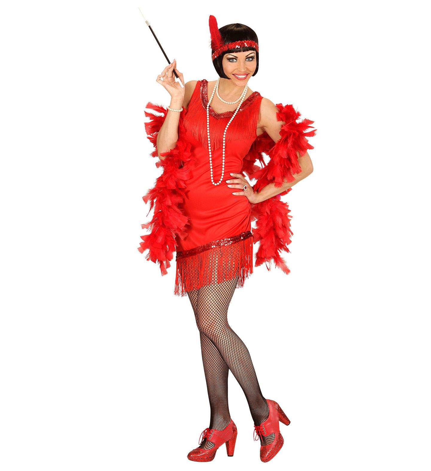 Kostým Charleston šaty červené Velikost: S (36-38)